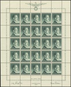MiNr. 103 Sheet Plate I