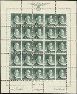 MiNr. 103 Sheet Plate II
