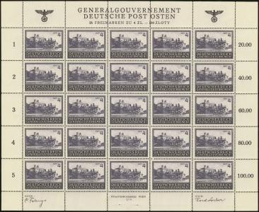 MiNr. 114 Sheet