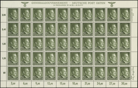 MiNr. 111 Sheet, Plate 2