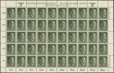 MiNr. 111 Sheet, Plate 4
