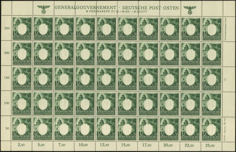 MiNr. 105 Sheet Plate IV