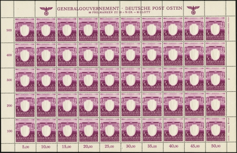 MiNr. 107 Sheet Plate II