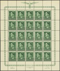 MiNr. 117 Sheet