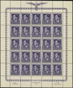MiNr. 119 Sheet