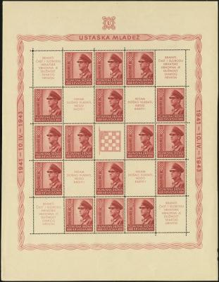 MiNr. 100 C Sheet