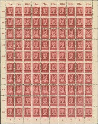 MiNr. 105 Sheet