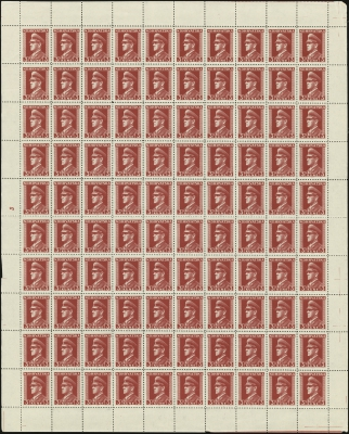 MiNr. 134 Sheet