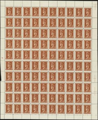 MiNr. 138 Sheet