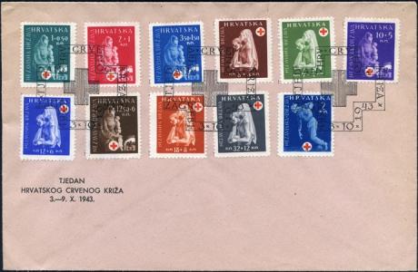 MiNr. 118-127, MiNr. 2 FDC