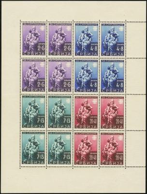 MiNr. 82-85 Sheet