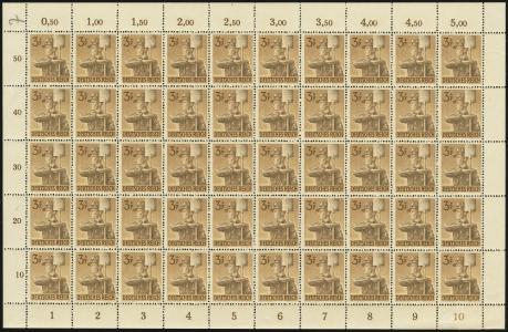 MiNr. 850 Sheet