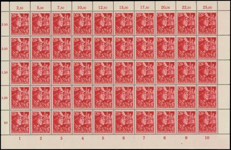 MiNr. 910 sheet