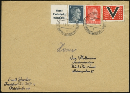 MiNr. 2 on Cover (front)