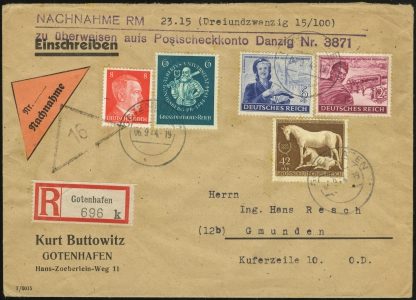 MiNr. 6 on Cover (front)