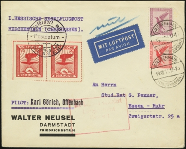 MiNr 20 (x2) on Cover