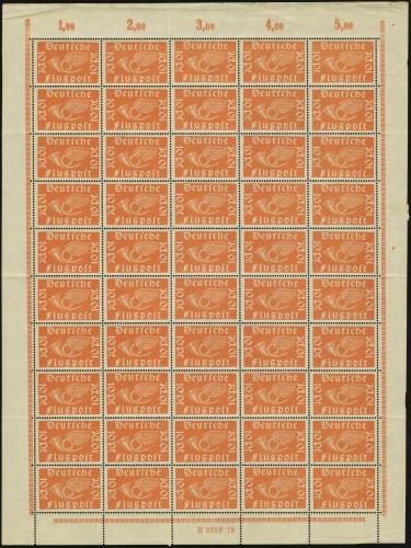 MiNr. 111 a Sheet