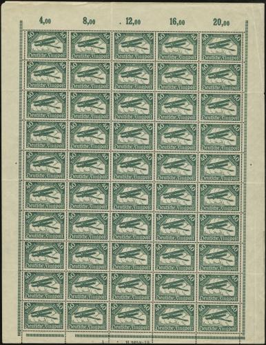 MiNr. 112 a Sheet