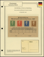 Hindenburg's Birthday Order Card