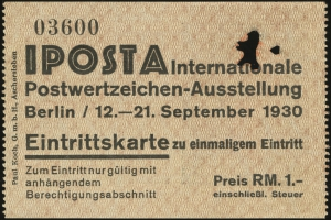 Admission Ticket (front)
