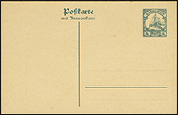 1917 Yacht Postal Stationery