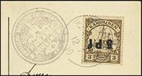 1910 Ponape Provisional Overprint
