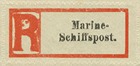 Marine Schiffspost Registration Labels