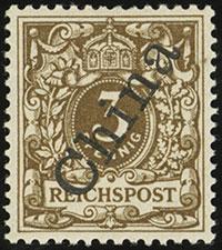 1898 56° Krone / Adler Overprints