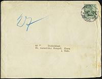 1905 Deutsches Reich Overprint Envelope