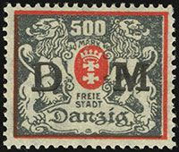 Small & Large Coat of Arms Overprints