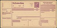 """1922 Postanweisungen A49 """"Hermes"""""""