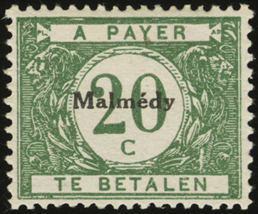 Malmedy Postage Due Overprints