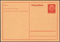 Hindenburg Pneumatic Mail Card