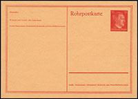 Hitler Pneumatic Mail Card