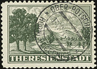 Theresienstadt Parcel Admission Stamp