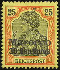 1900 Germania Overprints