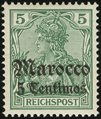 1905 Germania Overprint (Reichspost)