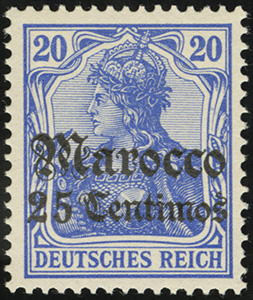 1905 Germania Overprints (Deutsches Reich)