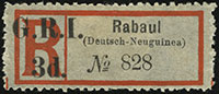 British Occupation Registration Label Overprint Issues