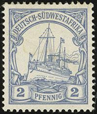 1901 Yacht Issue 2 Pfennig Proof