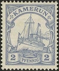 1900 Yacht Issue 2 Pfennig Proof