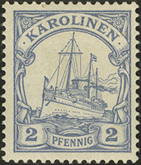 1900 Yacht Issue 2 Pfennig Proof